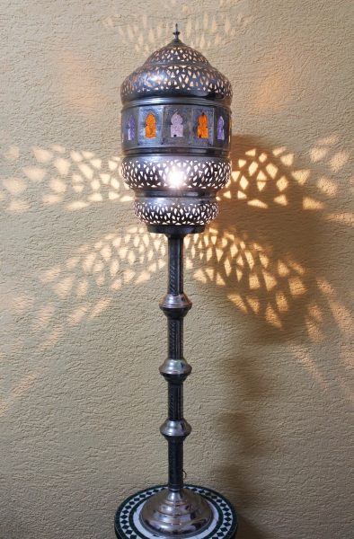 marokkanische stehlampe huriya silber multi gro ebay. Black Bedroom Furniture Sets. Home Design Ideas